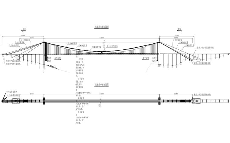 [贵州]高速公路大桥缆索吊施工设计图