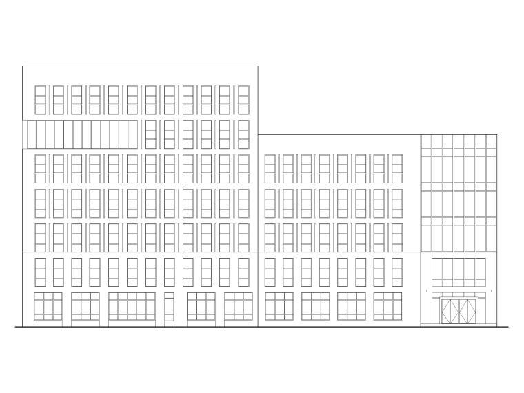 电梯产业园综合服务中心研发楼建筑施工图