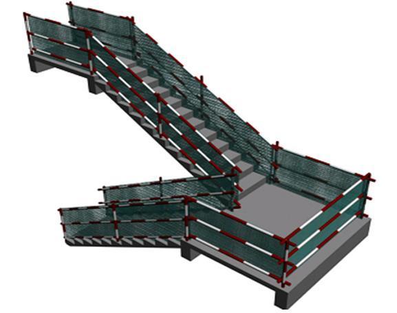 剪力墙结构安全文明施工专项方案-楼梯防护效果图