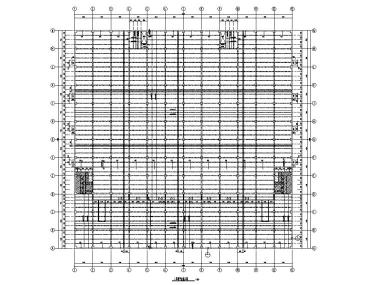 [天津]钢混结构仓库及连廊结构施工图2019