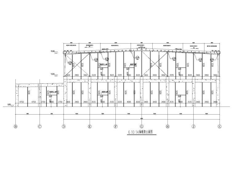 [天津]2层钢混结构仓库及坡道结施图纸2019