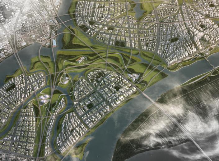 武汉长江新城起步区城市设计方案文本(Zaha)