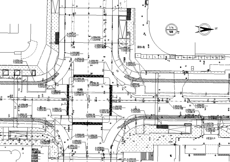 道路平面图
