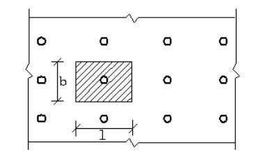 建筑工程盘扣式脚手架模板工程施工方案-楼板支撑架立杆稳定性荷载计算单元