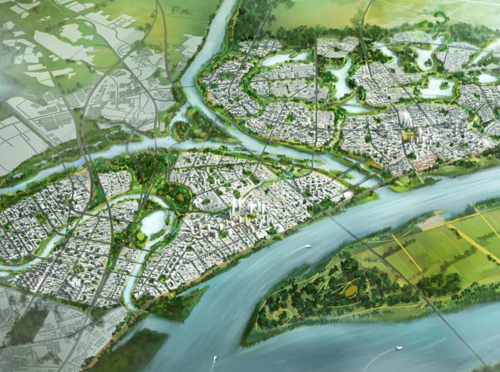 武汉长江新城起步区城市设计方案文本SOM