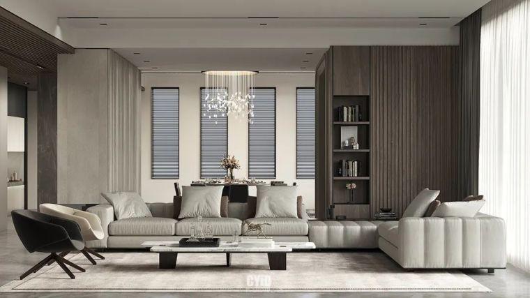 800㎡现代风格别墅设计,大宅的极致简约_4