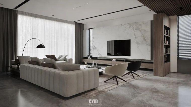 800㎡现代风格别墅设计,大宅的极致简约_5