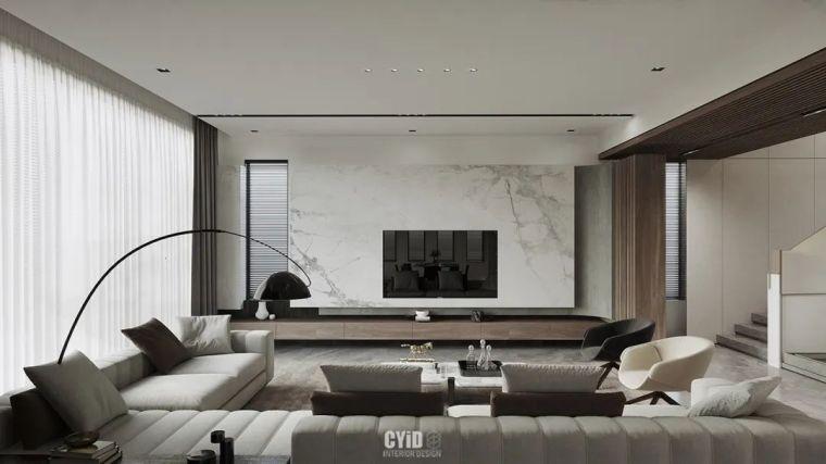 800㎡现代风格别墅设计,大宅的极致简约_3