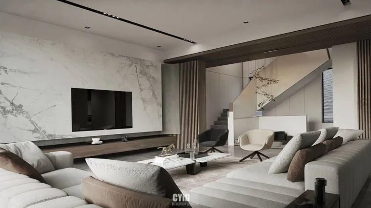 800㎡现代风格别墅设计,大宅的极致简约_2