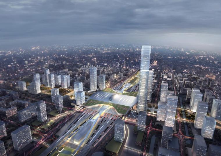 高铁站+站城综合体建筑设计方案文本
