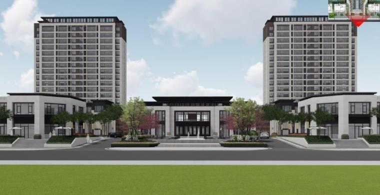 [山东]青岛新中式住宅社区景观设计方案