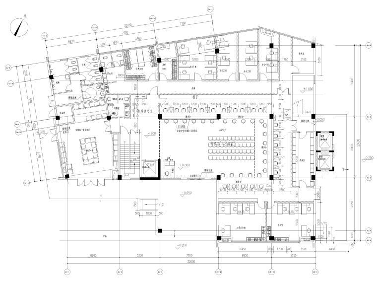 [广东]党群社区活动服务中心室内装修施工图