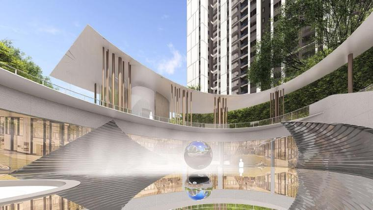 [福建]厦门现代风格住宅区景观设计方案-会所景观效果图1