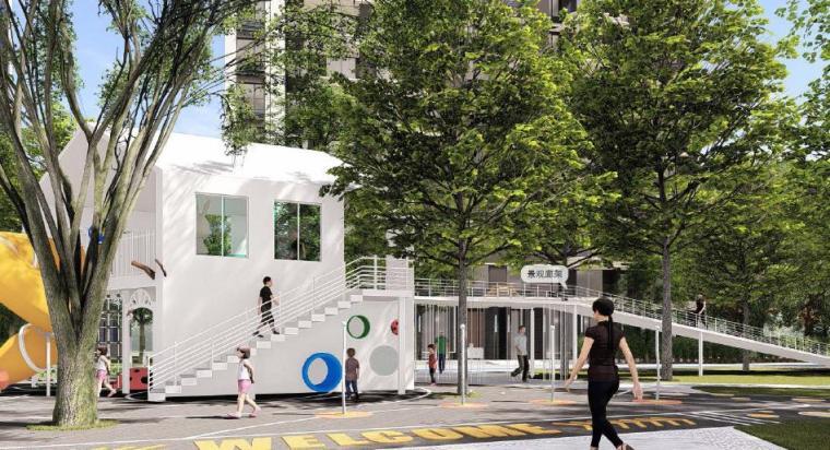 [福建]厦门现代风格住宅区景观设计方案-儿童活动区景观效果图2