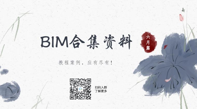 BIM合集资料六月篇(建模教程案例族库)