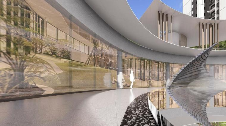 [福建]厦门现代风格住宅区景观设计方案-会所景观效果图2