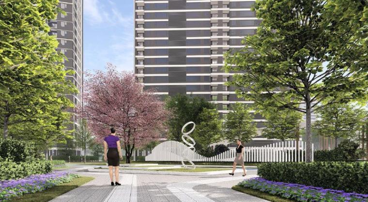 [福建]厦门现代风格住宅区景观设计方案-住宅区景观效果图2