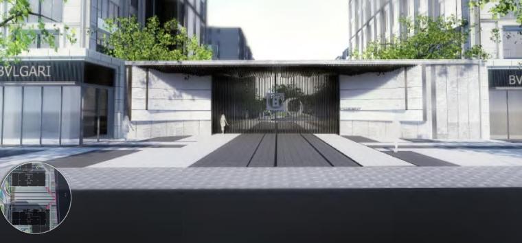 入口景观效果图3