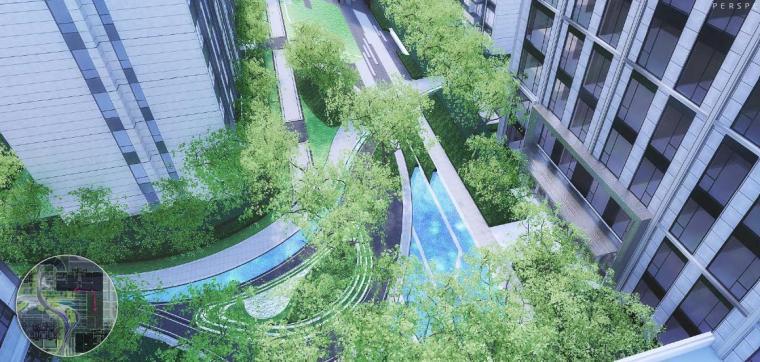 住宅区景观效果图2