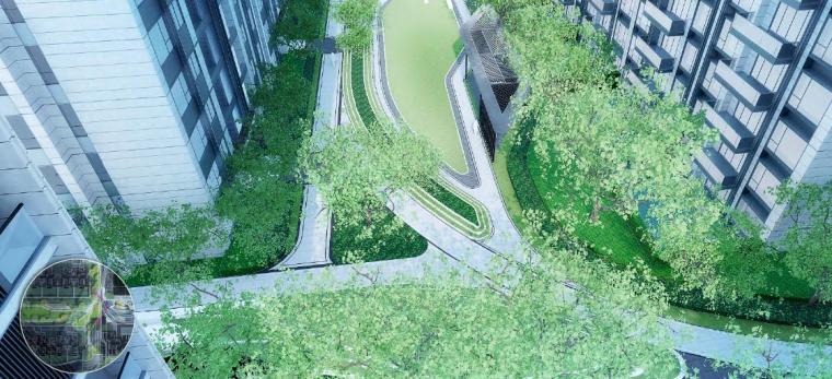 住宅区景观效果图3