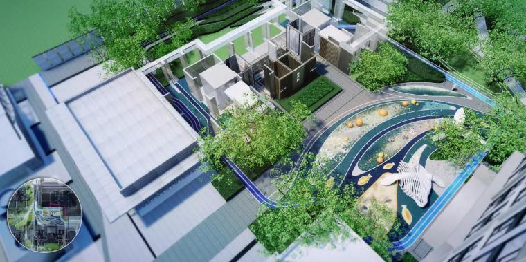 住宅区景观效果图4