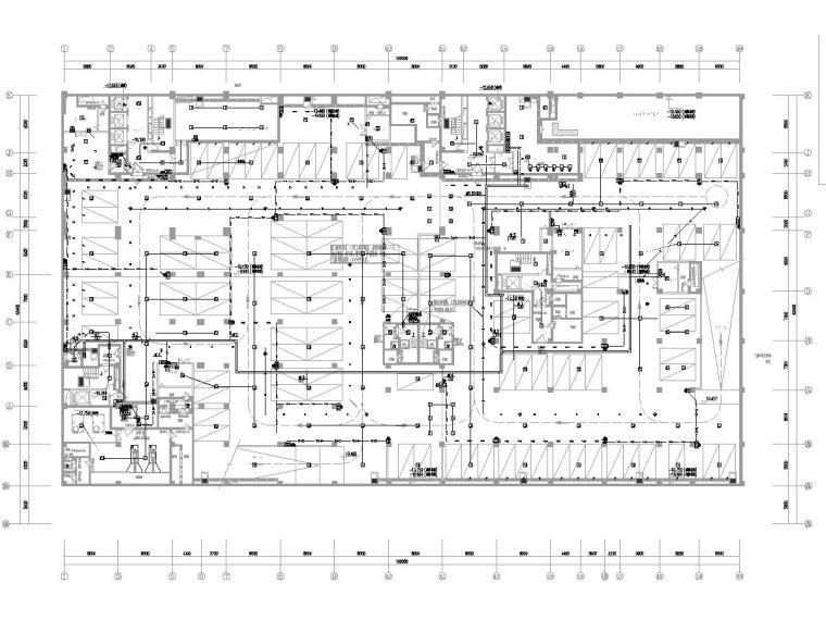 [广东]15层高校教学楼电气施工图(2018)-知识产权人才基地图纸电气含招标资料大全-3火灾自动报警平面图
