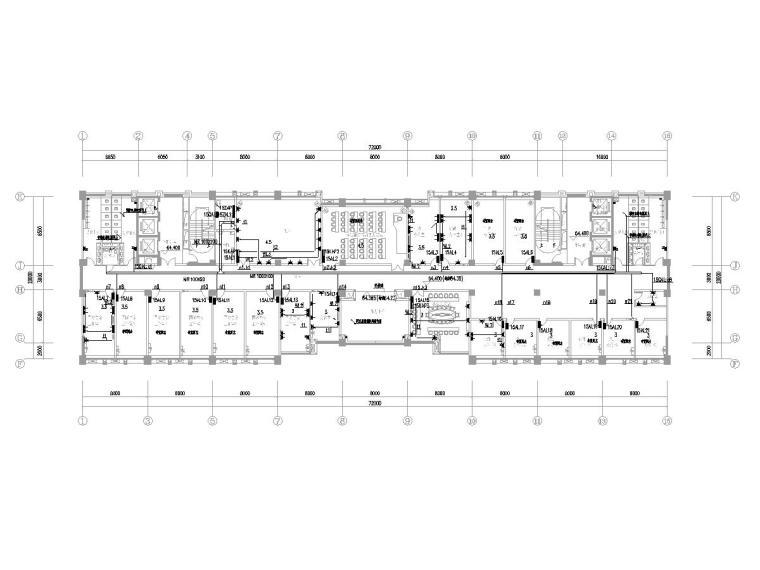 [广东]15层高校教学楼电气施工图(2018)-知识产权人才基地图纸电气含招标资料大全-2配电平面图