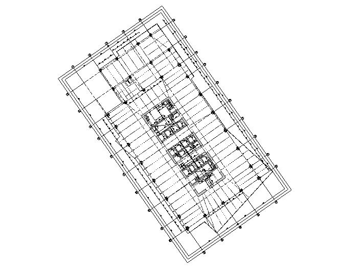 办公塔楼结构平面图