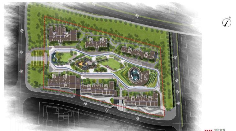 [福建]厦门现代风格住宅区景观设计方案-总平面图
