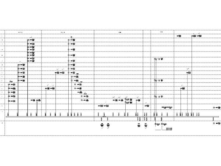 [广东]15层高校教学楼电气施工图(2018)-知识产权人才基地图纸电气含招标资料大全-9竖向干线系统图