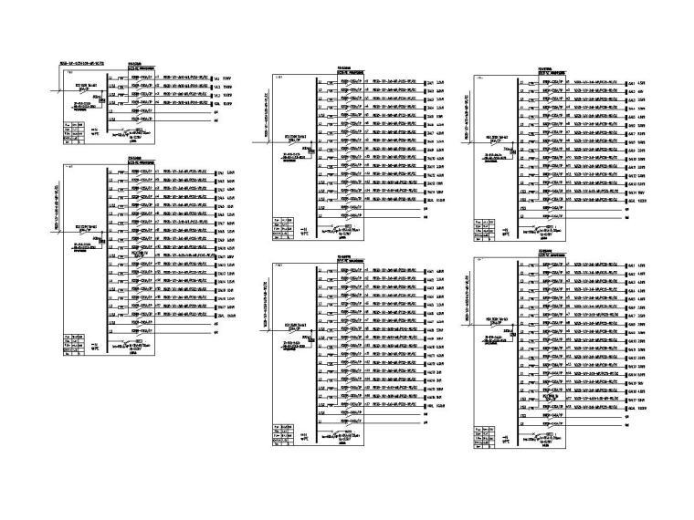[广东]15层高校教学楼电气施工图(2018)-知识产权人才基地图纸电气含招标资料大全-8配电箱系统图