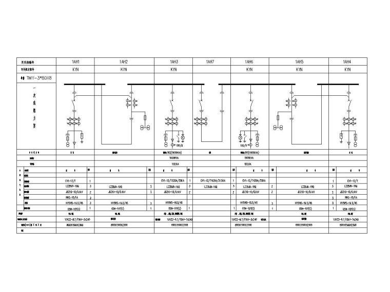 [广东]15层高校教学楼电气施工图(2018)-知识产权人才基地图纸电气含招标资料大全-10高压系统图