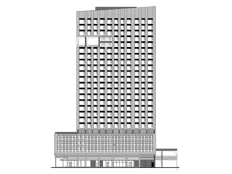 框架结构酒店式公寓资料下载-琶洲西区珠江酒店服务式公寓图纸建筑含清单