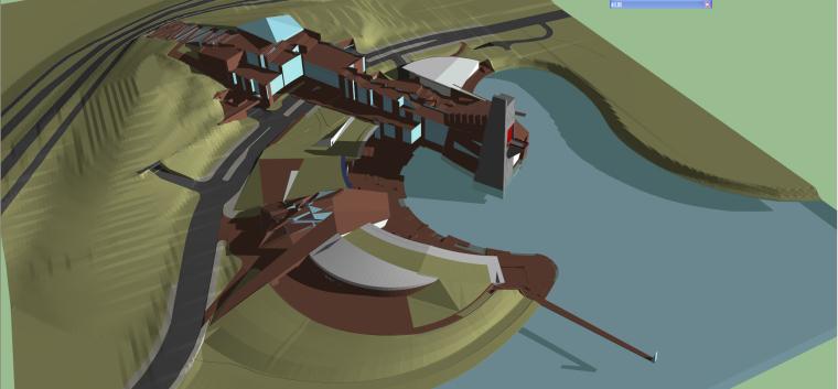 [成都]麓湖生态城-艺展中心SU模型