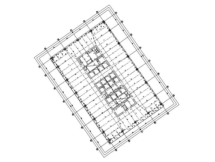 办公塔楼梁平面图
