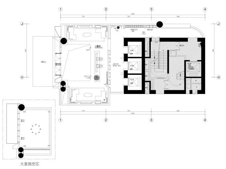 [广东]商住楼公寓首层公区及两套样板间图纸