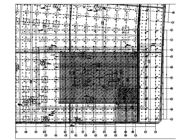 基础底板平面布置图