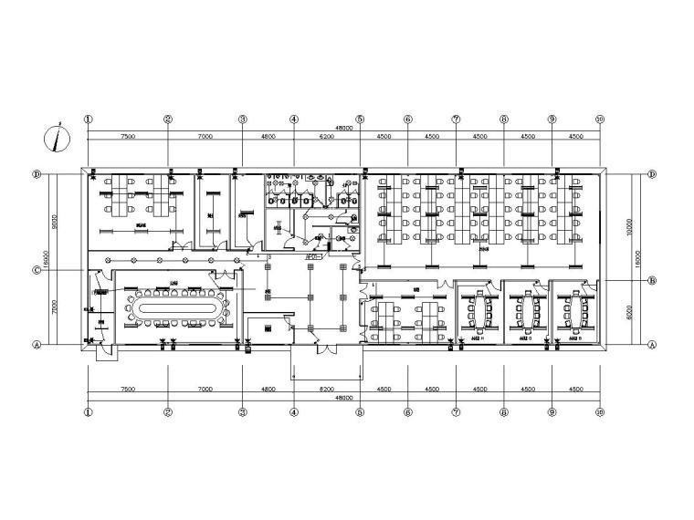厂房临时办公室配电设计图纸