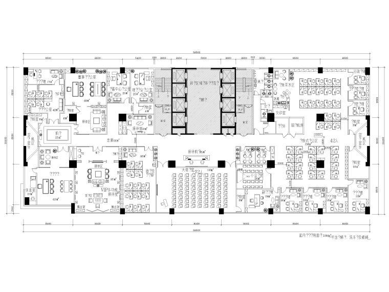 [福建]144㎡投资公司办公室装修工程施工图