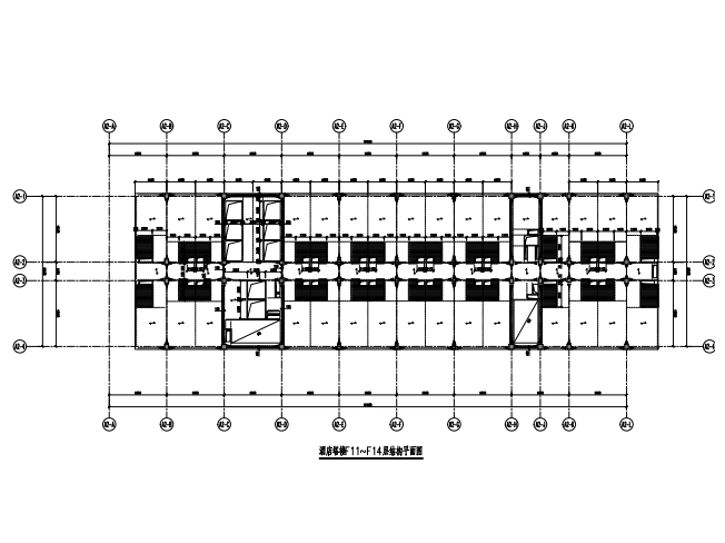 酒店塔楼结构平面图