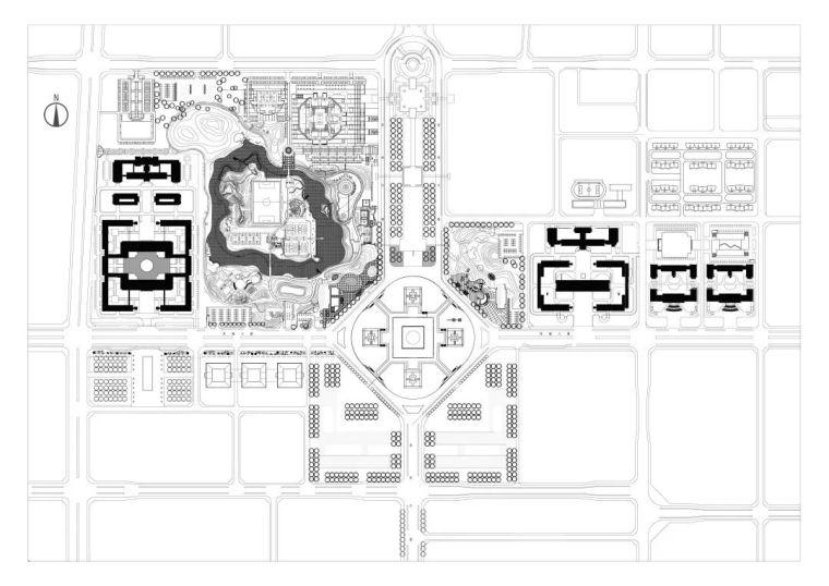 西安市行政中心|中国建筑学会建筑创作大奖_8