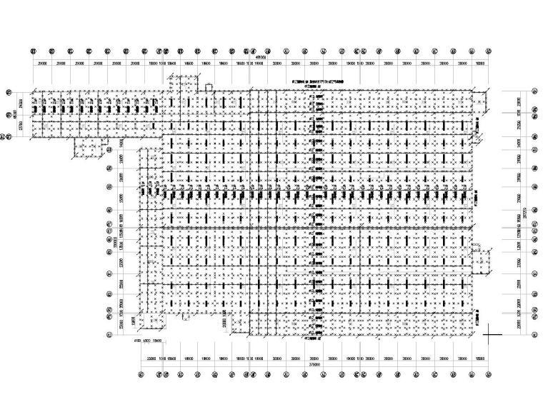 八套2020年最新工业建筑电气图纸-[广东]知名汽车生产总装车间电气施工图2020-2防雷平面图