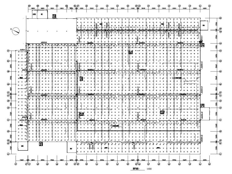 八套2020年最新工业建筑电气图纸-[广东]知名汽车生产总装车间电气施工图2020-1照明平面图