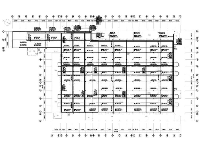 八套2020年最新工业建筑电气图纸-[广东]知名汽车生产总装车间电气施工图2020-3桥架布置图