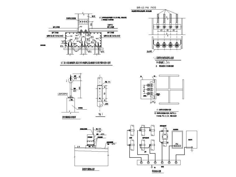 八套2020年最新工业建筑电气图纸-[广东]知名汽车生产总装车间电气施工图2020-8接地大样图