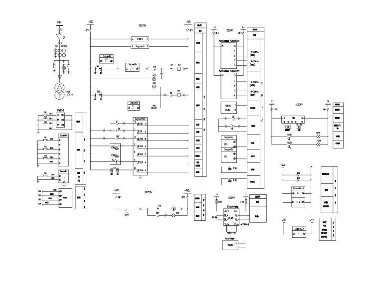 11变电所变压器二次接线图