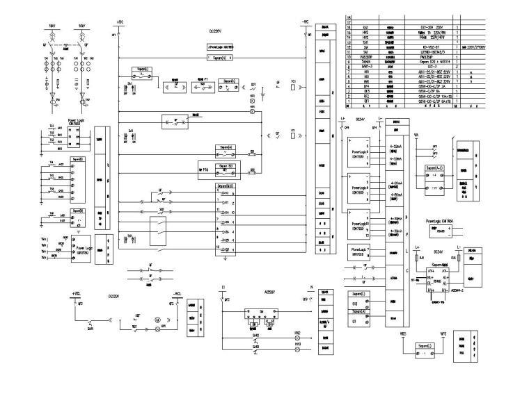 10变电所10kV进线柜二次接线图