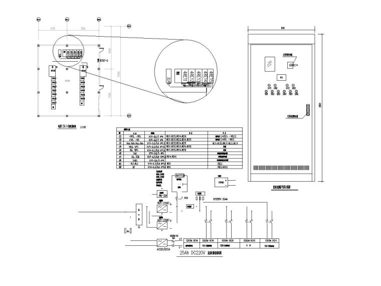 9 10kV柜间接线图、变电所直流电源屏原理图