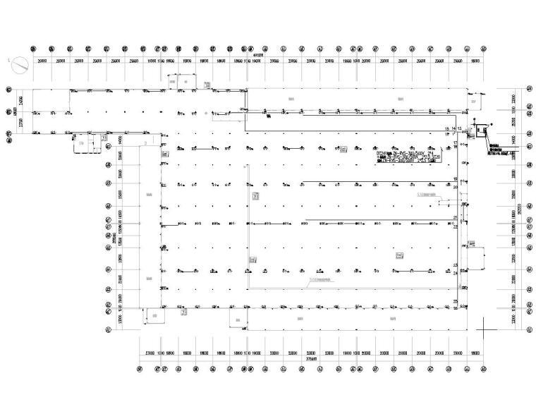 八套2020年最新工业建筑电气图纸-[广东]知名汽车生产总装车间电气施工图2020-消防平面图