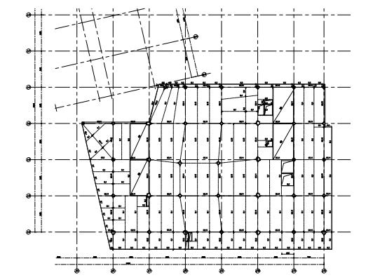 宴会厅梁平面图
